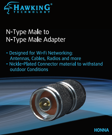 HONNA N-Type Male to N-Type Male Antenna Adapter