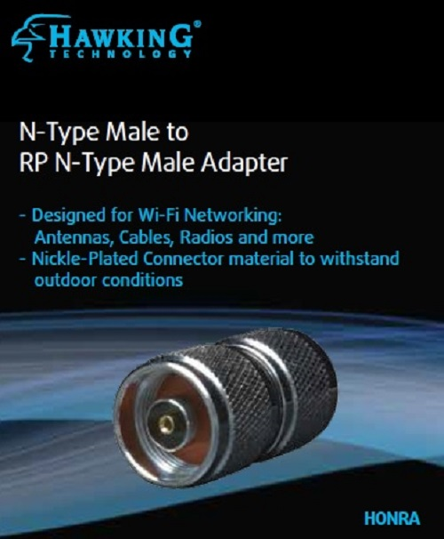 HONRA N-Type Male to RP N-Type Male Antenna Adapter